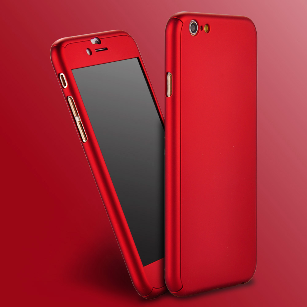 Kryt Full Defender - Clearo pro iPhone 6 a 6s detail red 5