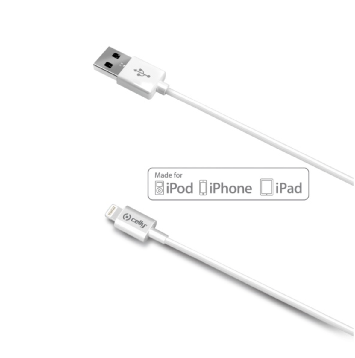 Kabel lightning Celly 2m pro iPhone a iPad