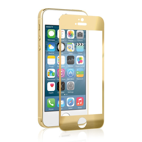 tempered glass gold ip 5