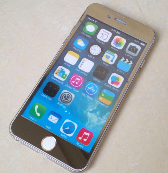 tempered glass gold ip 6